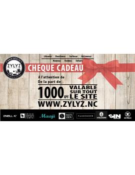 Chèque Cadeau ZYLYZ de 1.000 FCFP